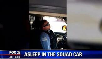The Chicago Police Department says an officer could face disciplinary action after a video of him sleeping in his squad car went viral. (FOX 32)