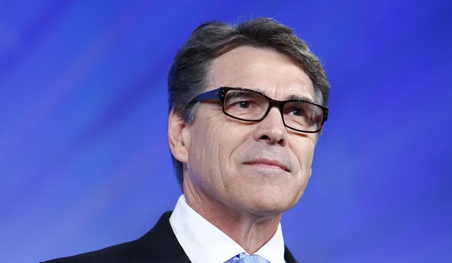 Former Texas Governor Rick Perry speaks at the Southern Republican Leadership Conference in Oklahoma City, on Thursday, May 21, 2015. (AP Photo/Alonzo Adams) ** FILE **