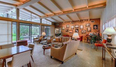 The interior of Howard Baker's mid-century modern mansion in Tennesee