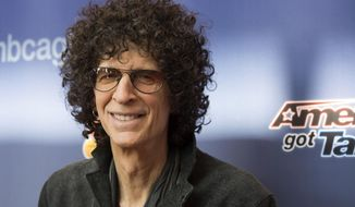 """Howard Stern, a judge on NBC's """"America's Got Talent,"""" arrives at the Season 10 red-carpet kickoff at the New Jersey Performing Arts Center in Newark, N.J., on March 2, 2015. The 10th season premieres May 26 at 8 p.m. ET. (Charles Sykes/Invision/Associated Press) **FILE**"""