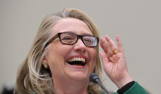 Former Secretary of State Hillary Rodham Clinton. (Associated Press) ** FILE **