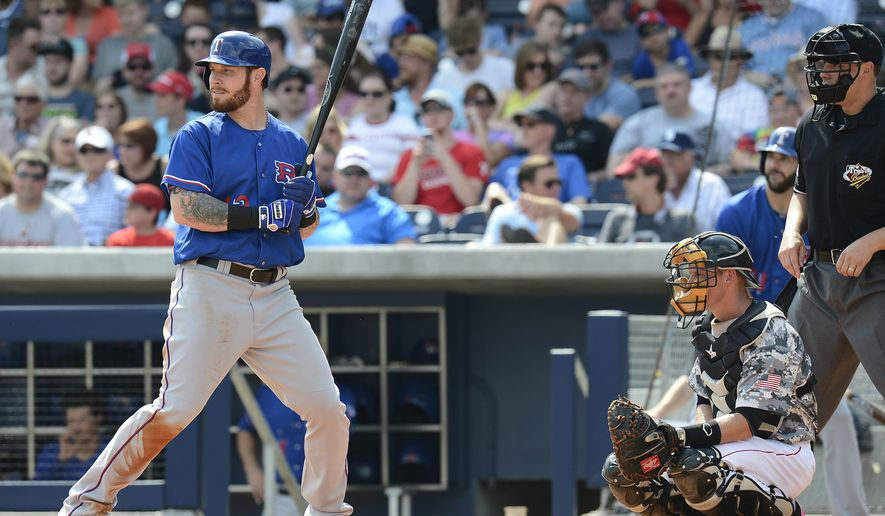 FILE - In this May 10, 2015 file photo, Texas Rangers' Josh Hamilton bats in the fifth inning against the Nashville Sounds on in Nashville, Tenn. Hamilton is done with his personal spring training and ready to rejoin the Texas Rangers. The slugger is set to fly Sunday, May 24, 2015,  to Cleveland to meet the team for the start of a three-game series against the Indians. (AP Photo/Mark Zaleski, File)