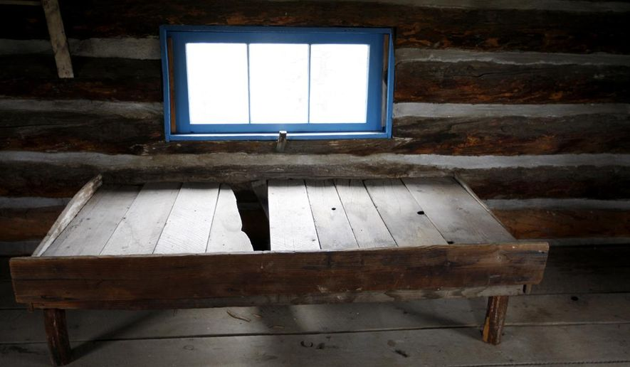 Some original furniture remains in the Will James cabin in the Four Dances Recreation Area on Thursday, May 14, 2015. (Casey Page/The Billings Gazette via AP)