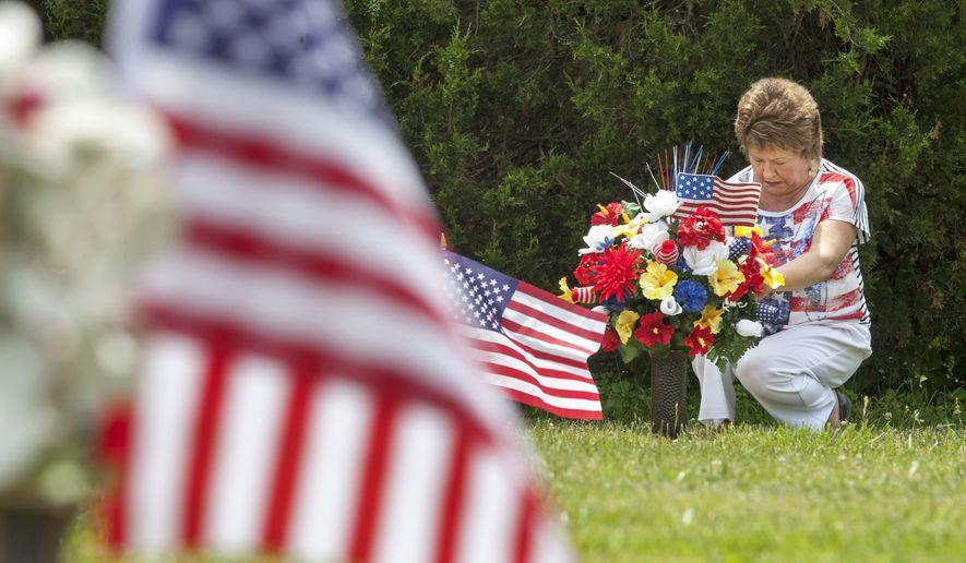 Wonderful Helen McDermott Visits The Grave Marker Of Her Husband, U.S. Army Sergeant  Tom McDermott,