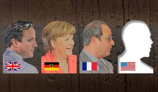 Missing world leader by Greg Groesch/The Washington Times