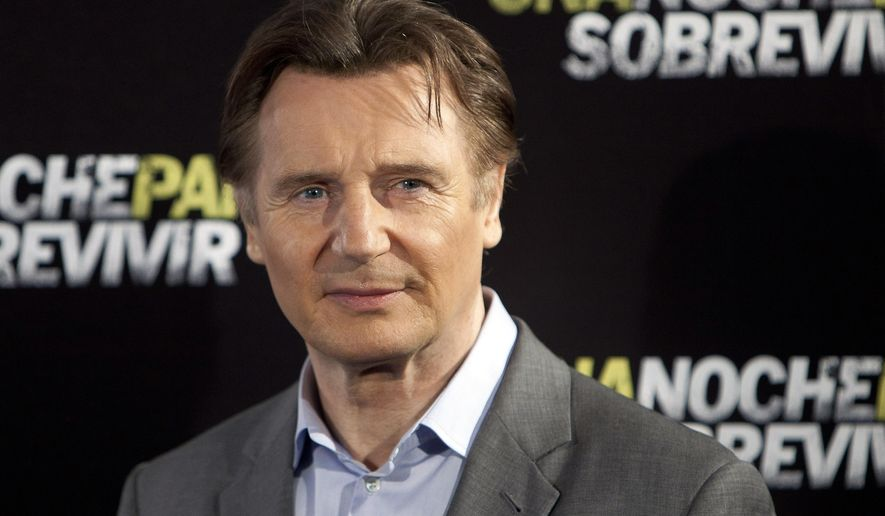 """FILE - In this March 24, 2015 file photo, actor Liam Neeson poses for photographers during the presentation of the film """"Run All Night"""" in Madrid. Ad executives looking for a celebrity to endorse their product can't do much better than Neeson, according to the Nielsen Company's first """"N-Scores,"""" released Tuesday, May 26, 2015. (AP Photo/Abraham Caro Marin, File)"""