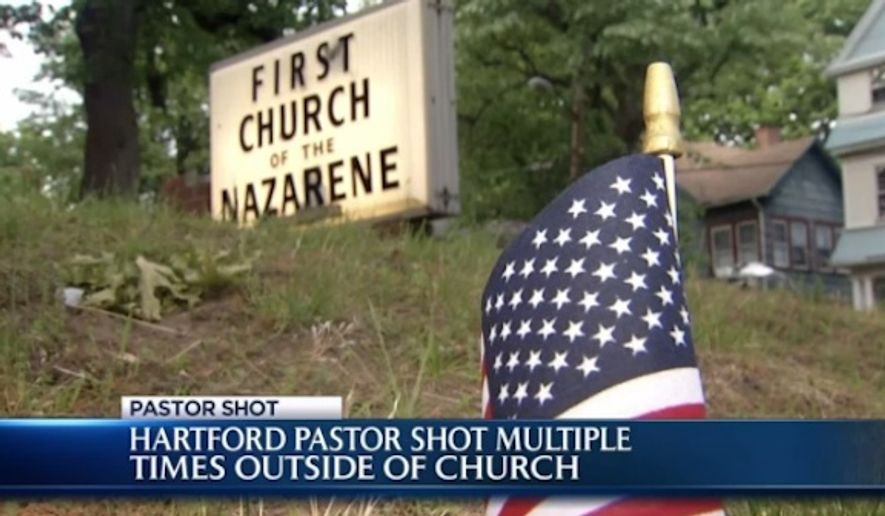 Rev. Dr. Augustus Sealy, a pastor in Hartford, Connecticut, is reportedly in critical condition after he was shot several times Sunday while decorating his church's lawn with Memorial Day flags. (NBC Connecticut)