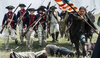 """Michael Raymond-James (Paul Revere, front right) stars in Lionsgate Home Entertainment's """"Sons of Liberty,"""" now on Blu-ray."""