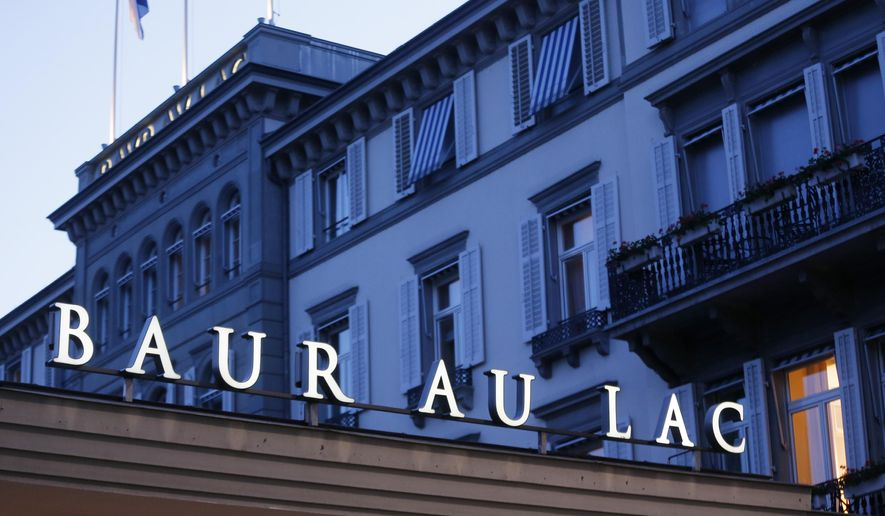 "The hotel Baur au Lac is photographed in Zurich, Switzerland, Wednesday, May 27, 2015. Swiss prosecutors opened criminal proceedings into FIFA's awarding of the 2018 and 2022 World Cups, only hours after seven soccer officials were arrested at this hotel Wednesday pending extradition to the U.S. in a separate probe of ""rampant, systemic, and deep-rooted"" corruption. (AP Photo/Michael Probst)"
