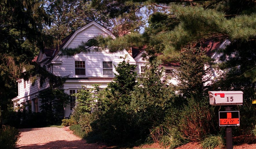 The house in the hamlet of Chappaqua, N.Y., which is being purchased by President Clinton and Hillary Rodham Clinton, is seen Saturday Aug. 28, 1999. The Clintons signed a contract Thursday, Sept. 2, 1999 to purchase the $1.7 million house, ending a guessing game over where they will live, while providing the residency Mrs. Clinton would need to run for the Senate. (AP Photo)