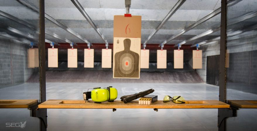 The silver eagle group in ashburn virginia features the for Indoor shooting range design uk