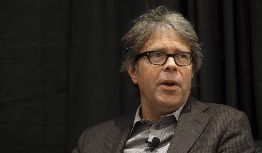 Author Jonathan Franzen speaks at an event at BookExpo America, Wednesday, May 27, 2015,  in New York. (AP Photo/Mary Altaffer)
