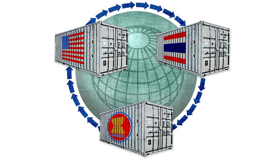 U.S. Trade through Thailand Illustration by Greg Groesch/The Washington Times