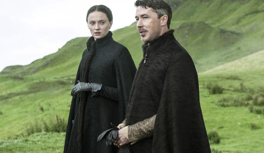 "FILE - In this file image released by HBO, Sophie Turner, as Sansa Stark, left, and Aidan Gillen, as Petyr ""Littlefinger"" Baelish, appear in a scene from the HBO original series, ""Game of Thrones."" HBO Now, the premium channel's new online service for people who don't pay for cable, will be available through Android devices this summer. (AP Photo/HBO, File)"