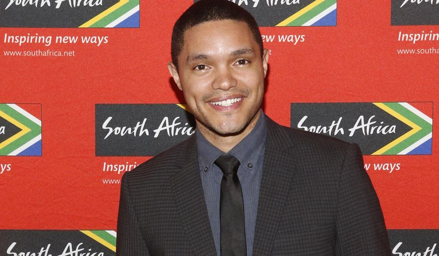 "FILE - In this April 13, 2015 file photo, Trevor Noah, South African comedian and new host of ""The Daily Show"" on Comedy Central, poses at South African Tourism's sixth annual Ubuntu Awards, at the American Museum of Natural History in New York. Comedy Central says Sept. 28, 2015 will be opening night for Noah, when the 31-year-old will be stepping into the job held by Jon Stewart since 1999.  (Jason DeCrow/South African Tourism via AP)"