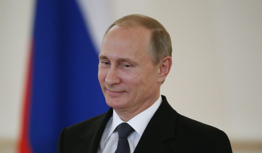 Russian President Vladimir Putin attends a ceremony in the Kremlin in Moscow, Russia, in this May 28, 2015, file photo. (Sergei Karpukhin/File-Pool Photo via AP) ** FILE **