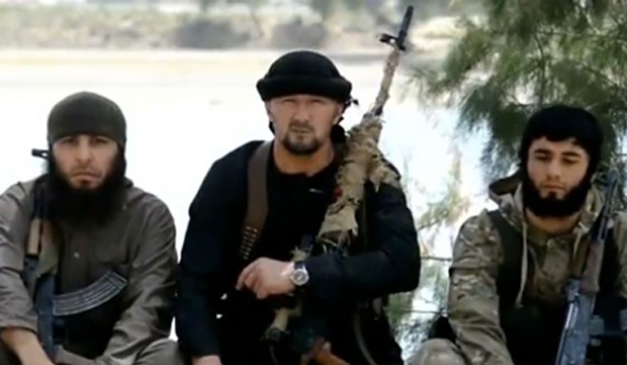 The U.S. State Department confirmed May 29, 2015 with CNN that Islamic State fighter Gulmurod Khalimov was trained in the United State three times for counterterrorism instruction. (Image: CNN screenshot) ** FILE **