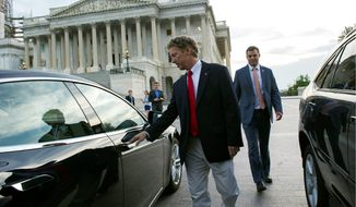 Sen. Rand Paul, Kentucky Republican, has long been a critic of the Patriot Act's far-reaching surveillance powers and the fight over its reauthorization has helped him carve out a unique space among the 2016 GOP presidential candidates. (Associated Press)