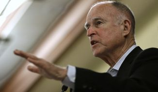 Analysts have raised the possibility that the campaign against Proposition 13 in California may be aimed at achieving another public sector labor goal: persuading Gov. Jerry Brown to support an extension of the five-year tax increase under Proposition 30 by using the split-roll threat as a bargaining chip. (Associated Press)