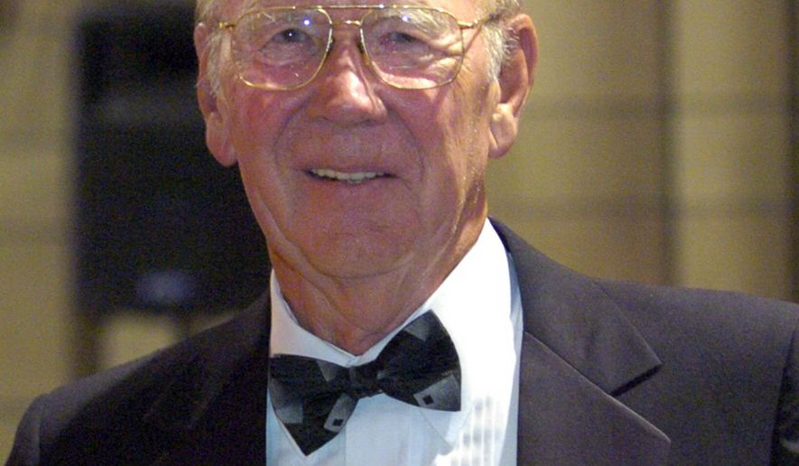 A June 24, 2005 photo shows John Petersen at the Cathedral of Learning Society gala at the University of Pittsburgh. Petersen, a retired insurance executive whose gifts to the University of Pittsburgh included $10 million for a basketball arena named for himself and his wife, died Saturday, May 30, 2015 after battling cancer, according to his family. He was 86. (Tony Tye/Pittsburgh Post-Gazette via AP) MAGS OUT; NO SALES; MONESSEN OUT; KITTANNING OUT; CONNELLSVILLE OUT; GREENSBURG OUT; TARENTUM OUT; NORTH HILLS NEWS RECORD OUT; BUTLER OUT