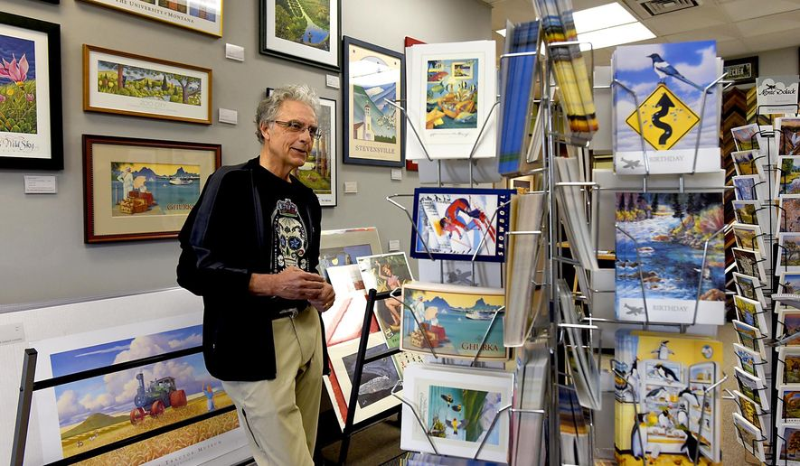Missoula artist Monte Dolack has decided to close his downtown gallery in Missoula, Mont. after 22 years there, a decision spurred by his concerns about family, health, work and time. (Kurt Wilson/Missoulian via AP)