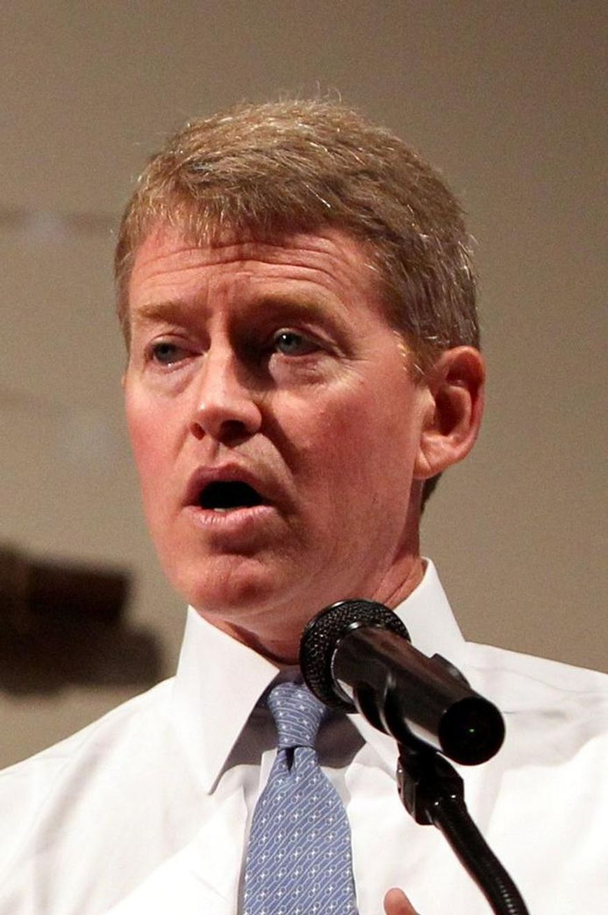 In this Aug. 17, 2014, photo, Missouri Attorney General Chris Koster is speaking in Ferguson, Mo. In a report released Monday, June 1, 2015, Koster says the state's African-American drivers were 75 percent more likely than their white counterparts to be stopped on Missouri's roads based on their proportionate share of the driving-age population. (AP Photo/St. Louis Post-Dispatch, Christian Gooden, file)