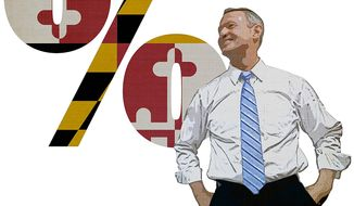 Martin O'Malley's Maryland Flag Illustration by Greg Groesch/The Washington Times