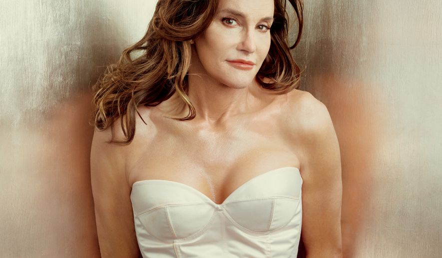 This photo taken by Annie Leibovitz exclusively for Vanity Fair shows the cover of the magazine's July 2015 issue featuring Bruce Jenner debuting as a transgender woman named Caitlyn Jenner.  (Annie Leibovitz/Vanity Fair via AP)