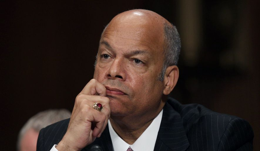 "Homeland Security Secretary Jeh Johnson said the stark number of missed contraband items looked bad ""out of context,"" but said the tests were important in trying to advance TSA's mission. (Associated Press)"