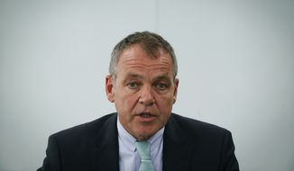 Malaysia Airlines Chief Executive Officer Christoph Mueller speaks during a press conference in Sepang, Malaysia Monday, June 1, 2015. Mueller said the ailing carrier could break even by 2018 after cutting staff, selling surplus aircraft and refurbishing its international fleet. (AP Photo/Vincent Thian)