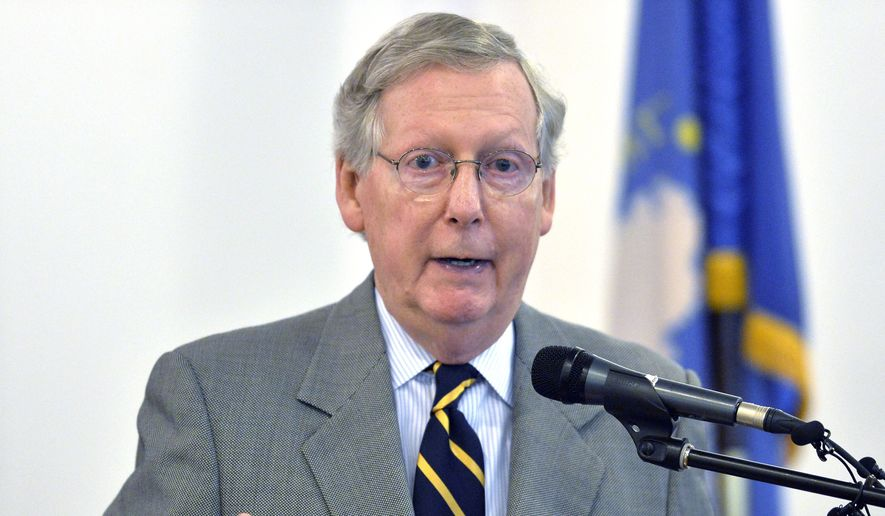 Senate Majority Leader Mitch McConnell, Kentucky Republican, will get one last chance to force votes on amendments Tuesday to try to give the NSA more spying time, and to weaken some of the transparency that the House imposed. (Associated Press)