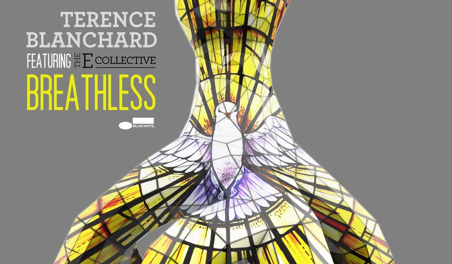 "This photo provided by Terence Blanchard shows the cover of the CD ""Breathless,"" by Blanchard. (Henry Adebonojo/Terence Blanchard via AP)"