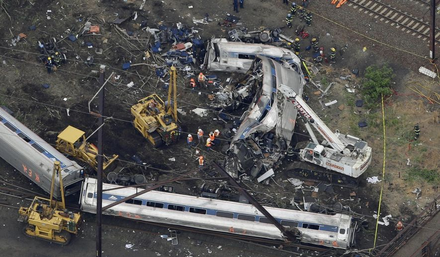 Last month's fatal Amtrak wreck in Philadelphia sparked the usual knee-jerk demands for more federal spending. (AP Photo)