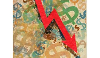 Troubled Economy Illustration by Greg Groesch/The Washington Times
