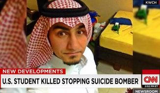 Abduljaleel Alarbash, a 22-year-old electrical engineering major at Wichita State University, was killed in Saudi Arabia Friday after he helped stop a suicide bomber from entering a Shiite mosque in Dammam. (CNN)