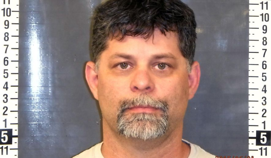 This undated booking photo provided by Nye County Sheriff's Office shows William Carns, 45, from, Pahrump, Nev. Carns, the Nye County Republican Central Committee chairman, was cited on Monday, June 1, 2015 for driving an unregistered vehicle and fictitious registration, authorities said. Carns then provided an officer identification number to get out of the initial tickets. Authorities also said this was the third time Carns had made such claims to avoid a citation. Carns said Tuesday that the officer misinterpreted the situation and the law in arresting him. (Nye County Sheriff's Office via AP)