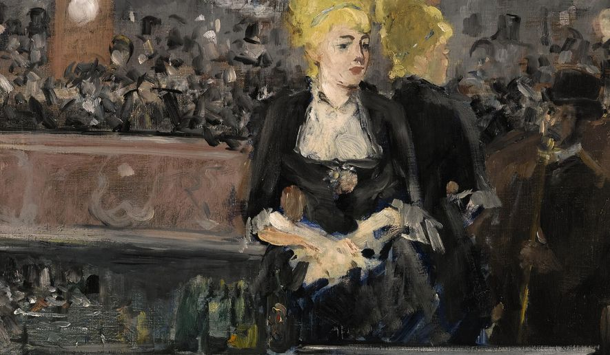 """This image released by Sotherby's auction house in London shows Edouard Manet's  Le Bar aux Folies-Bergere.  One of the defining images of French Impressionism is up for sale, as Sotheby's auctions Edouard Manet's """"Le Bar aux Folies-Bergere."""" The auction house said Monday that the painting will be offered at a June 24 sale in London, with an estimated price of 15 million pounds to 20 million pounds ($23 million to $30.7million) (Sotherby's via AP) MANDATORY CREDIT"""