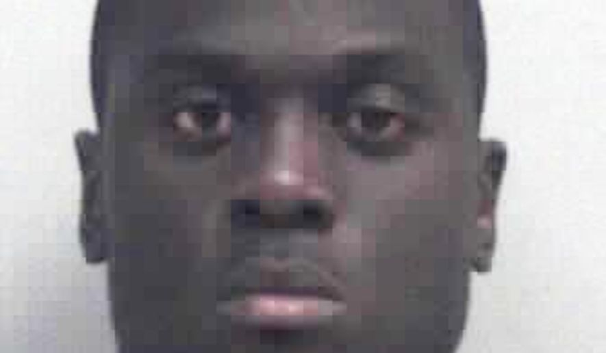 This booking photo provided by the Gwinnett County Sheriffs office shows Prince Shembo. The Atlanta Falcons waived linebacker Shembo on Friday, May 29, 2015, shortly after he was charged with aggravated animal cruelty. Police in suburban Gwinnett County said Shembo was charged after his then-girlfriend's dog died from blunt force trauma last month. (Gwinnett County Sheriffs office via AP)