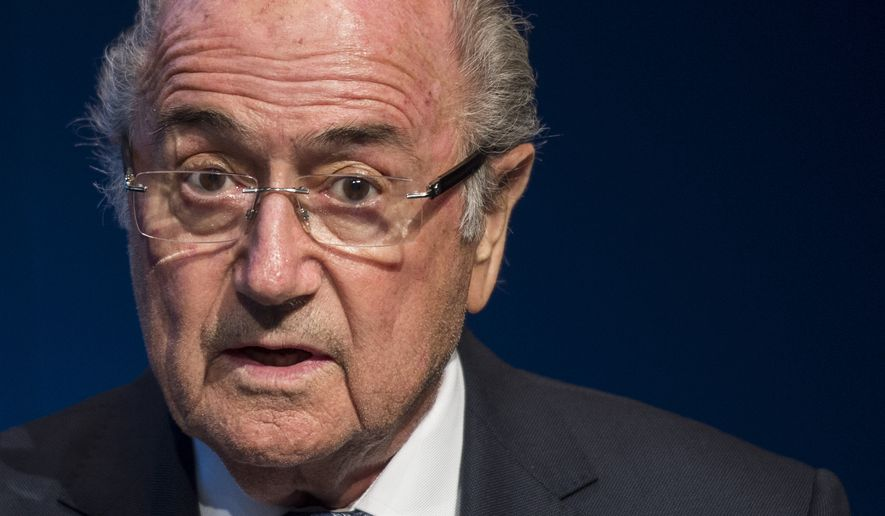 FIFA President Sepp Blatter speaks during a news conference at the FIFA headquarters in Zurich, Switzerland, Tuesday, June 2, 2015. Sepp Blatter says he will resign from his position amid corruption scandal and is promising to call for fresh elections to choose a successor. (Ennio Leanza/Keystone via AP)