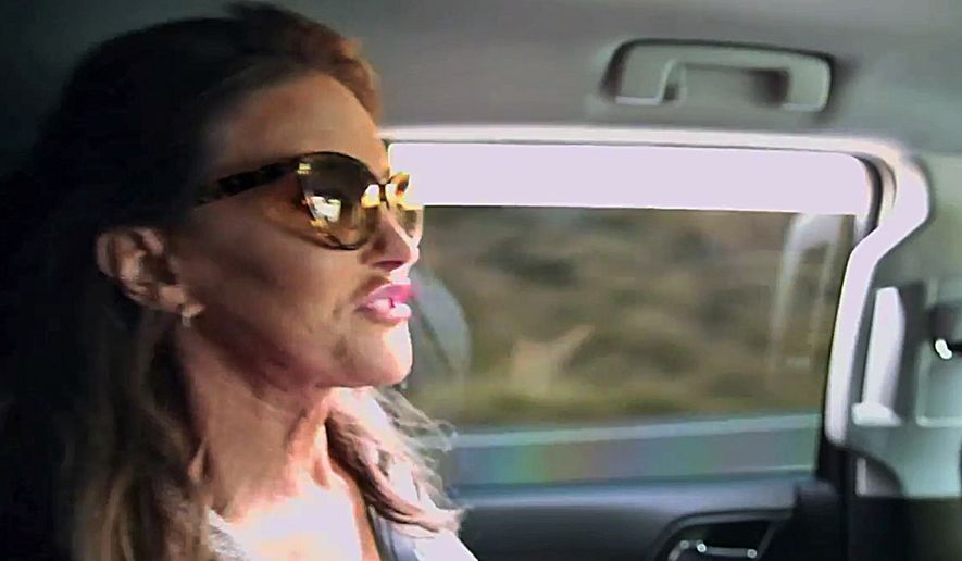 """This 2015 image provided by courtesy of E! shows Caitlyn Jenner in the first official promotional trailer for the new documentary series, """"I Am Cait,"""" in Malibu, Calif. The show premieres Sunday, July 26, 2015, at 9 p.m. ET/PT on E! (E! via AP)"""