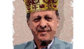 Erdogan, King of Turkey Illustration by Greg Groesch/The Washington Times