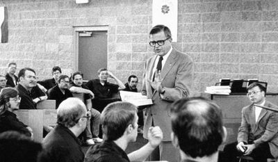 Chuck Colson leading a group of Centurions.