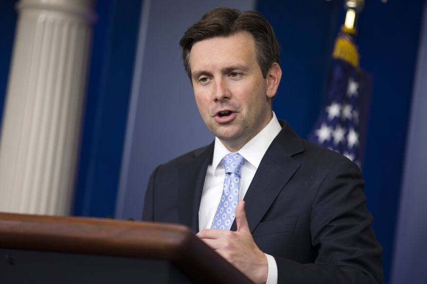 White House press secretary Josh Earnest speaks during the daily press briefing, Thursday, June 4, 2015, at the White House in Washington. (AP Photo/Evan Vucci)