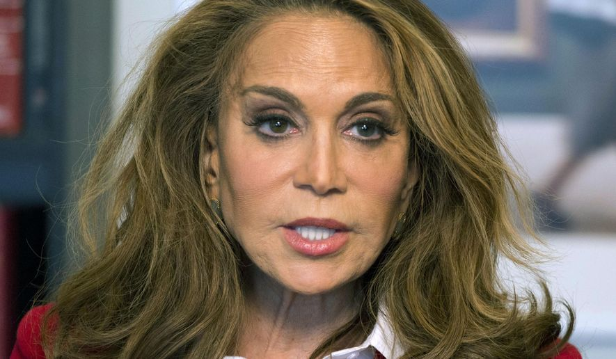 In this May 7, 2015, file photo, Pamela Geller speaks during an interview at The Associated Press in New York. (AP Photo/Mark Lennihan, File)