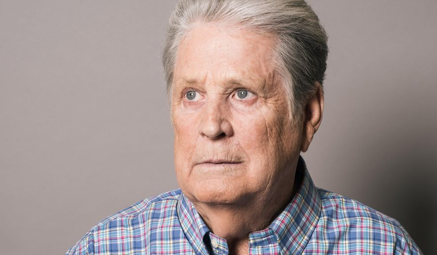 "In this Tuesday, June 2, 2015 photo, musician Brian Wilson poses for a portrait during press day for ""Love & Mercy"" at The Four Seasons in Los Angeles.  The film focuses on two formative periods in the Wilson's life, separated by 20 years. It opens in U.S. theaters on June 5, 2015.  (Photo by Casey Curry/Invision/AP)"