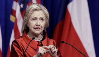Democratic presidential candidate Hillary Rodham Clinton speaks at Texas Southern University in Houston in this June 4, 2015, file photo. (AP Photo/Pat Sullivan, File)