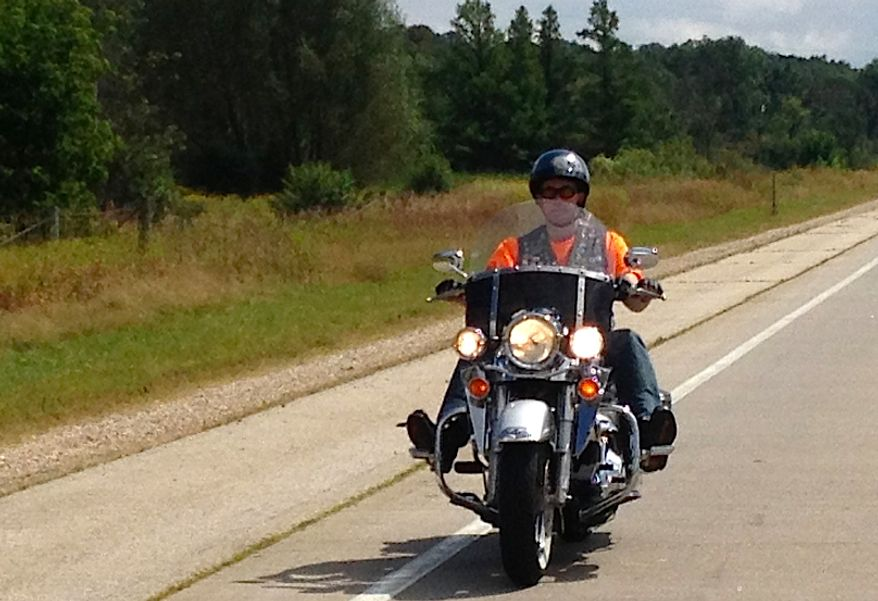 Gov. Scott Walker rides his 2003 Harley Davidson Road King (image from Gov. Scott Walker)