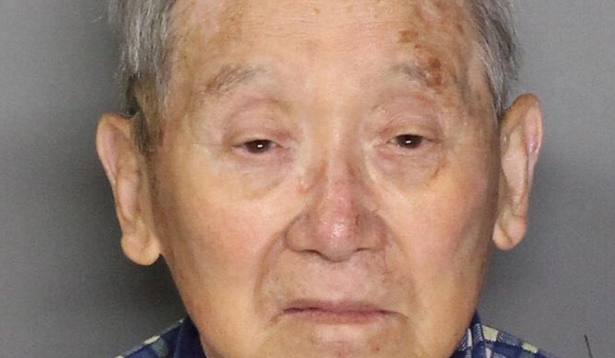 This June 5, 2015 law enforcement booking photo from the Sacramento County Sheriff's Department shows Masaharu Ono. The Sacramento Sheriff's Department says Ono, 89, was booked Friday, June 5, 2015, into the Sacramento County Jail on a single count of murder after sheriff's deputies were called to the couple's apartment and found his 83-year-old wife's body. (Sacramento County Sheriff's Department via AP)
