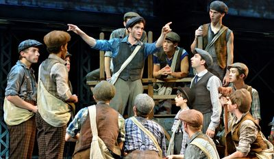 Newsies, a Disney Theatrical Production under the direction of Thomas Schumacher that tells the story of the 1899 newsboy strike, runs through June 21 at National Theatre.