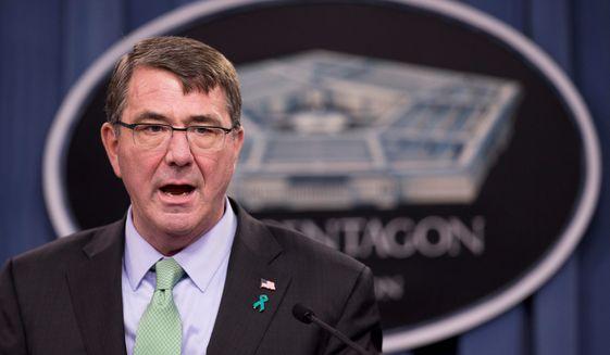 Defense Secretary Ashton Carter (Associated Press) **FILE**